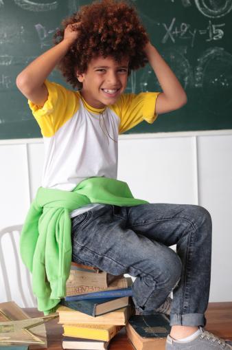 ילד בכיתה